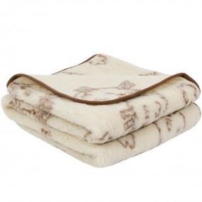 Вълнено одеяло Lambs от естествена мериносова вълна – PRIMO HOME