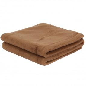 Вълнено одеяло Chocolate от камилска и мериносова вълна – PRIMO HOME