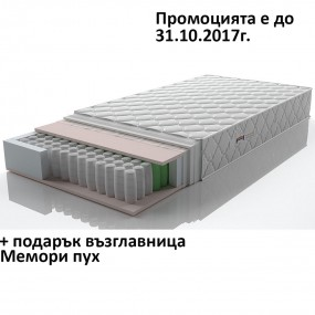 Матрак Лигура Покет 7 зони на комфорт, 19 см - НАНИ