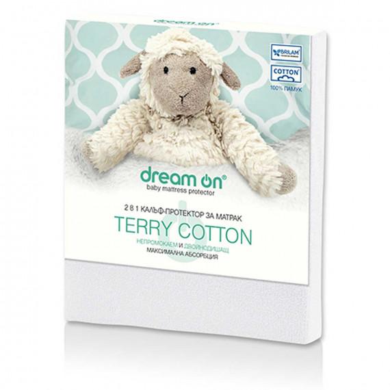 Непромокаем протектор Terry Cotton детски – DREAM ON