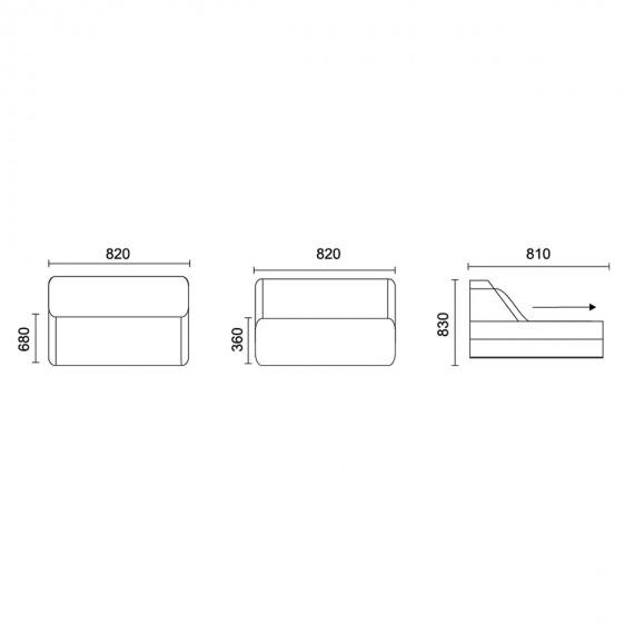 Разтегателен фотьойл Foam - ТЕД 5