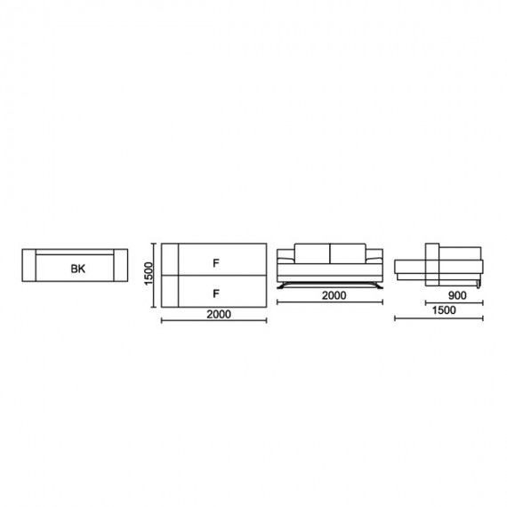 Разтегателен диван МП 05 - PARALLEL 10