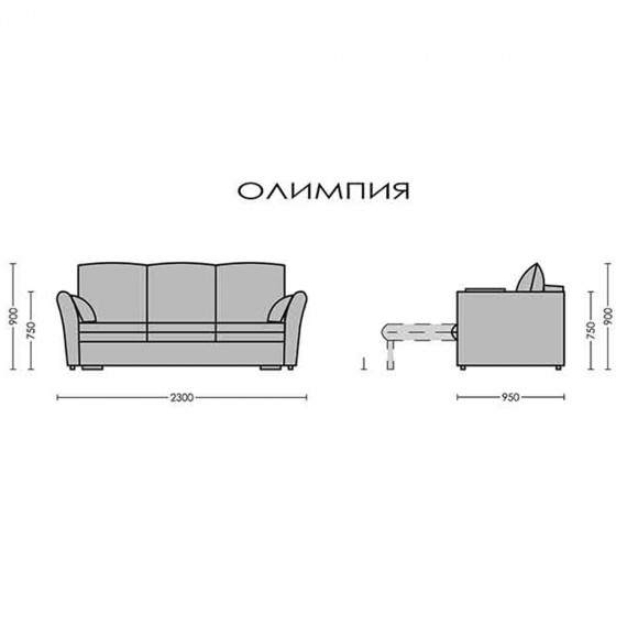 Разтегателен диван Олимпия - PARALLEL 3